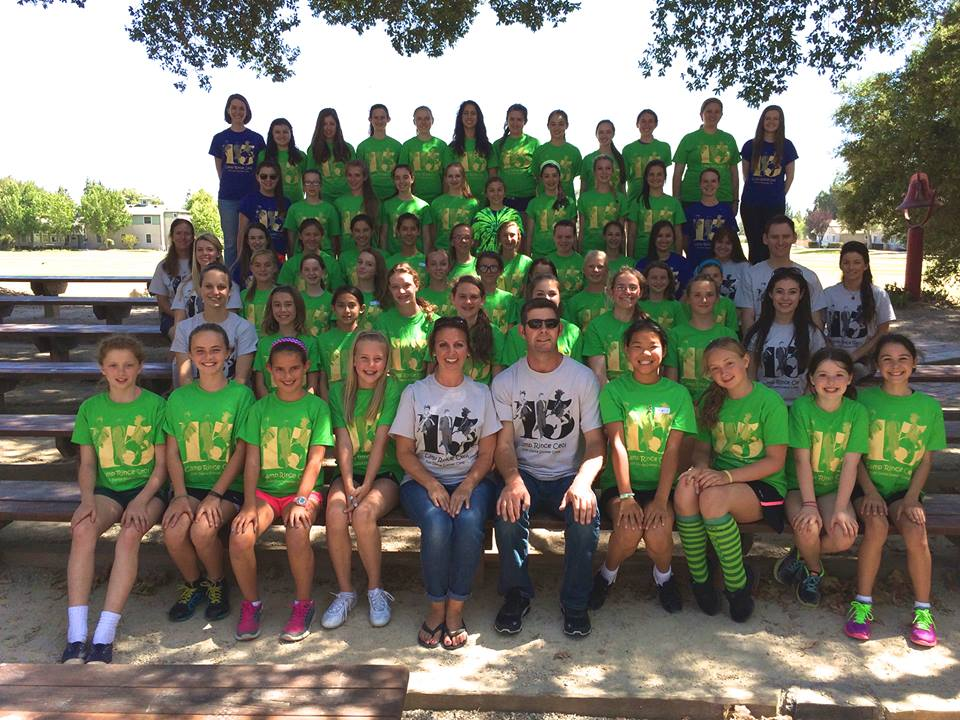 Group picture of Irish Dance Camp, California